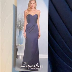 NAVY BLUE EVENING GOWN by Alfred Angelo